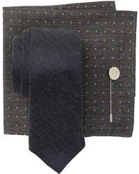 Ben Sherman - Silk Ledbury Chevron Tie, Pocket Square, & Lapel Pin Set - Lyst