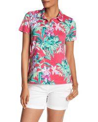 Tommy Bahama - Floriana Short Sleeve Polo Shirt - Lyst
