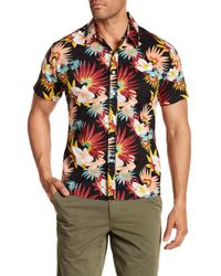 Ambsn - Frawl Short Sleeve Tailored Fit Shirt - Lyst
