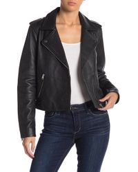 Lucky Brand - Pin Dot Leather Moto Jacket - Lyst