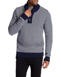 Lindbergh - Button Knit Sweater - Lyst