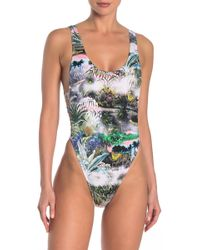 The Bikini Lab - Jungle Halter One-piece - Lyst