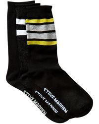 Steve Madden - Varsity Stripe Crew Socks - Pack Of 3 - Lyst