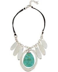 Robert Lee Morris - Green Stone Statement Necklace - Lyst