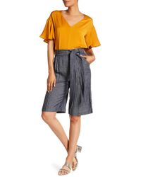 MILLY - Trapunto Belt Cropped Trousers - Lyst