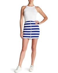 Amour Vert - Kona Front Zip Mini Skirt - Lyst