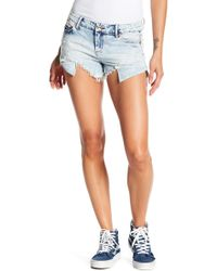 Tractr - Hi-lo Fray Shorts - Lyst