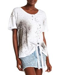 Religion - Pulse Front Tie Printed Tee - Lyst