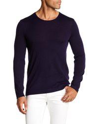 John Varvatos - Pima Cotton Pullover Sweater - Lyst