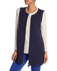 Eileen Fisher - Wool Zip Up Vest - Lyst