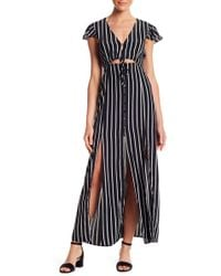 Honey Punch - Striped Maxi Dress - Lyst