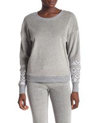 Honeydew Intimates - Geo Cuff Velour Sweatshirt - Lyst