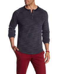 Original Penguin - Long Sleeve French Rib Henley Tee - Lyst