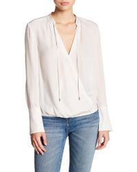 Brochu Walker - Seville Stitched Silk Blouse - Lyst