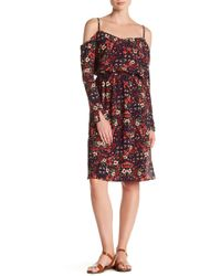 Mimi Chica - Cold Shoulder Long Sleeve Floral Print Dress - Lyst
