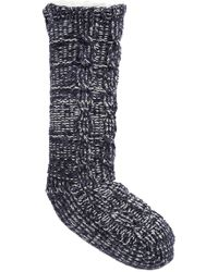 Make + Model - Cable Knit Faux Fur Lined Slipper Socks - Lyst