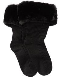 UGG - Faux Fur Short Rain Boot Socks - Lyst