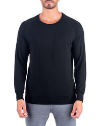 Unsimply Stitched | French Terry Relaxed Neck Crew Sweater | Lyst