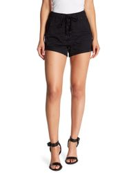 One Teaspoon - Superfreak Lace-up Chambray Shorts - Lyst