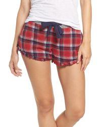 Make + Model - Flannel Ruffle Lounge Shorts - Lyst