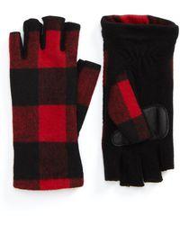 Echo - Plaid Fingerless Gloves - Lyst