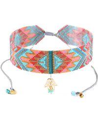 Mishky - Macui Hamsa Choker Necklace - Lyst