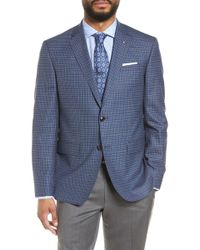 ccb5dc0b3129ac Lyst - Ted Baker Jay Trim Fit Plaid Wool Sport Coat in Blue for Men
