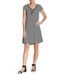 Cable & Gauge - Short Sleeve Stripe Dress (petite) - Lyst