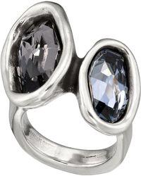 Uno De 50 - Yesyes Bezel Set Swarovski Crystal Accented Ring - Lyst