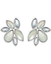 Judith Jack - Sterling Silver Quartz Stone Cluster Stud Earrings - Lyst