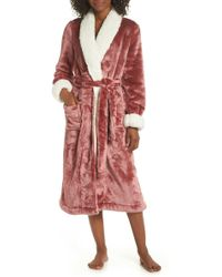 Nordstrom - Frosted Plush Robe (plus Size) - Lyst