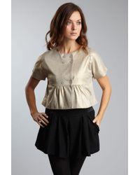 Hazel - Short Sleeve Crop Jacket - Lyst