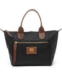 Frye - Ivy Small Nylon Leather Trimmed Top Handle Bag - Lyst