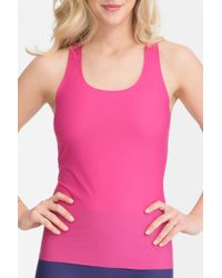 Spanx - Perforated Racerback Tank - Lyst