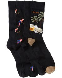 Tommy Bahama - Parrot Crew Socks - Pack Of 4 - Lyst