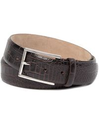 BOSS - T-lelion Croc Emed Leather Belt - Lyst