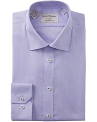 Hickey Freeman - Textured Solid Contemporary Fit Dress Shirt - Lyst
