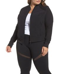 Zella - Wear It Out Bomber Jacket (plus Size) - Lyst