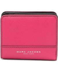 Marc Jacobs - Saffiano Bicolor Slgs Mini Compact Wallet - Lyst