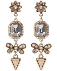 ABS By Allen Schwartz - Linear Embellished Drop Earrings - Lyst