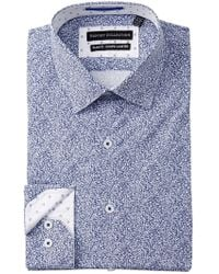 Report Collection - Printed Slim Fit Dress Shirt - Lyst