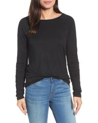 Halogen - (r) Ruched Sleeve Tee (regular & Petite) - Lyst