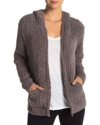 Barefoot Dreams - Plush Ribbed Hoodie - Lyst