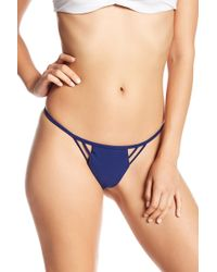 383abe6e7da Mia Marcelle - Tikka Solid Brazilian Bikini Bottoms - Lyst