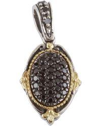 Konstantino - Sterling Silver & 18k Yellow Gold Oval Black Diamond Pendant - 0.54 Ctw - Lyst