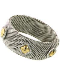 1928 - Two-tone Mesh Bracelet - Lyst