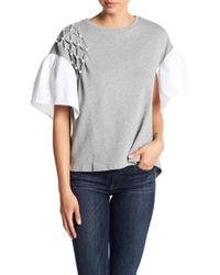 Mustard Seed - Knitted Short Sleeve Beaded Top - Lyst