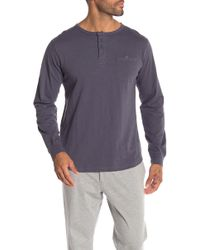 Unsimply Stitched - Long Sleeve Slub Lounge Henley - Lyst