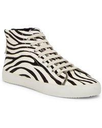 Rebecca Minkoff - Zaina Too Genuine Calf Hair Mid Sneaker - Lyst