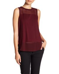 Vince Camuto - Mixed Media Tank (petite) - Lyst